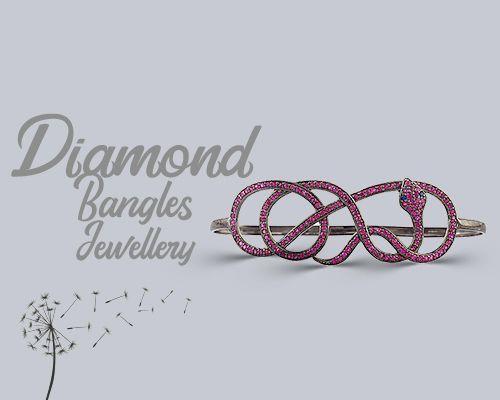 Diamond bangles jewelry designer