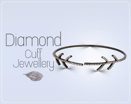 Mens diamond cuff bracelet