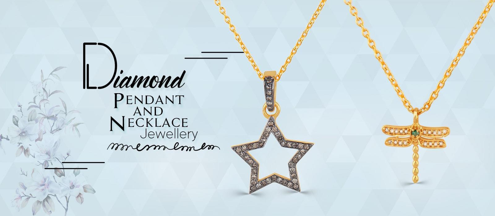 diamond pendant and necklace jewelry