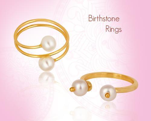 June Birthstone Pearl Rings