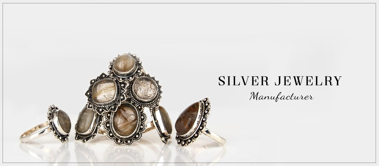 Handcrafted Silver Jewelry Manufacturer India, Indian Handmade Jewelry Wholesaler,
