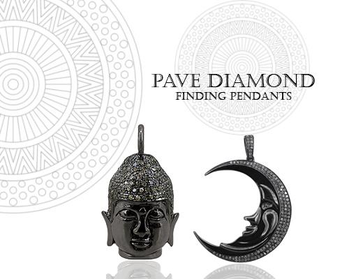 Pave Diamond Jewelry Findings Manufacturer From Jaipur
