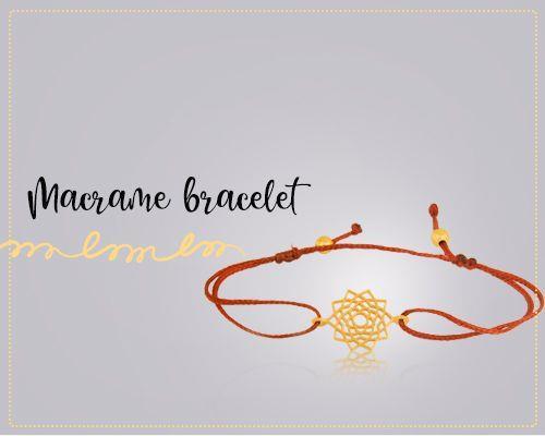 Macrame bracelet jewelry