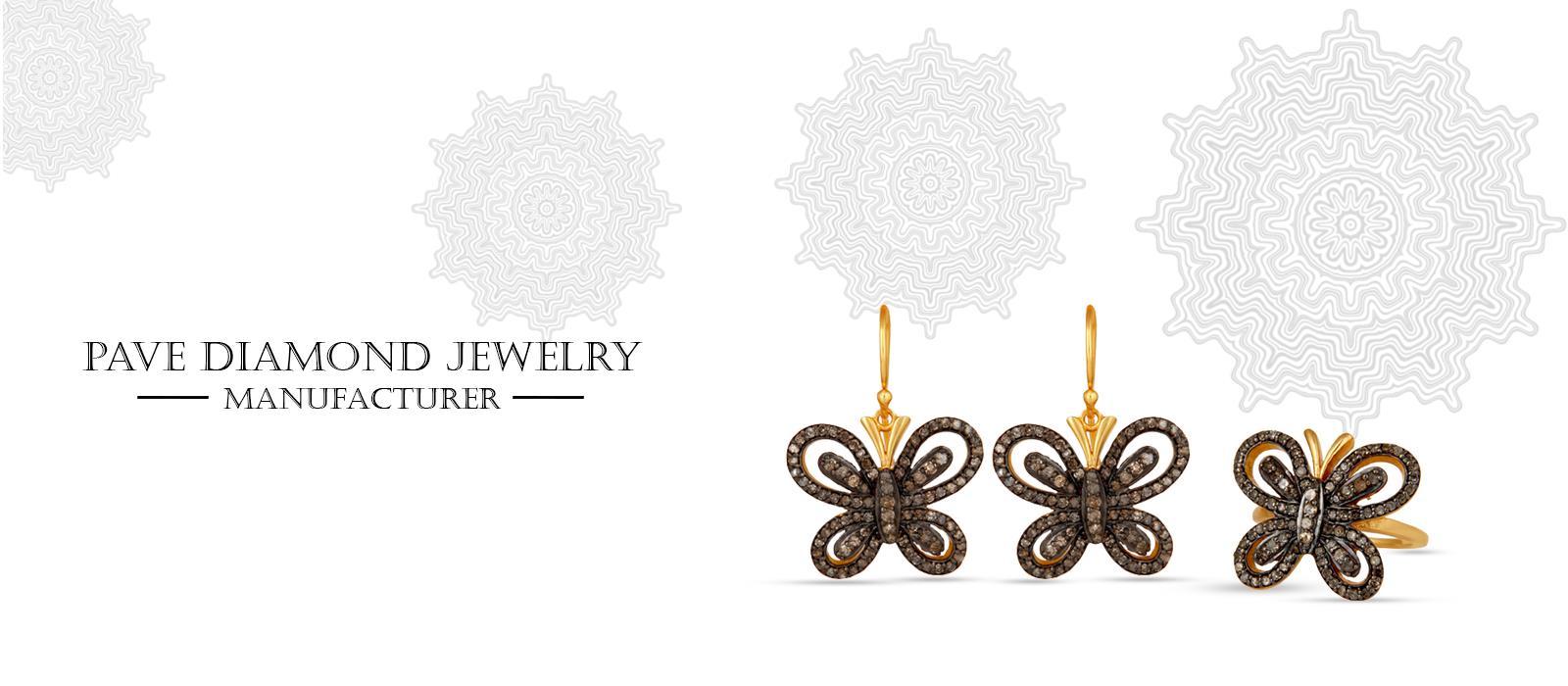 pave diamond jewelry suppliers, pave diamond jewelry wholesale Jaipur, pave diamond Jewelry supplier from india, handmade pave diamond jewelry manufacturers, custom pave diamond jewelry manufacturers, personalized diamond jewelry manufacturers