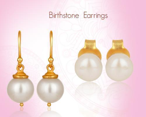 June Birthstone Pearl Earrings