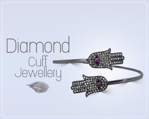 Mens diamond cuff