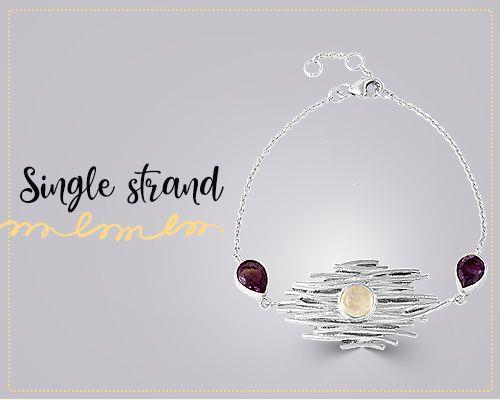 Single strand bracelet jewelry