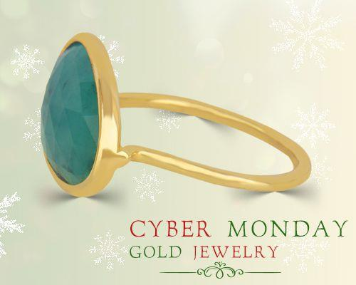 Cyber Monday gold jewelry