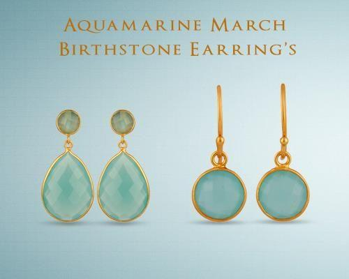 March Birthstone Earrings Supplier Jaipur