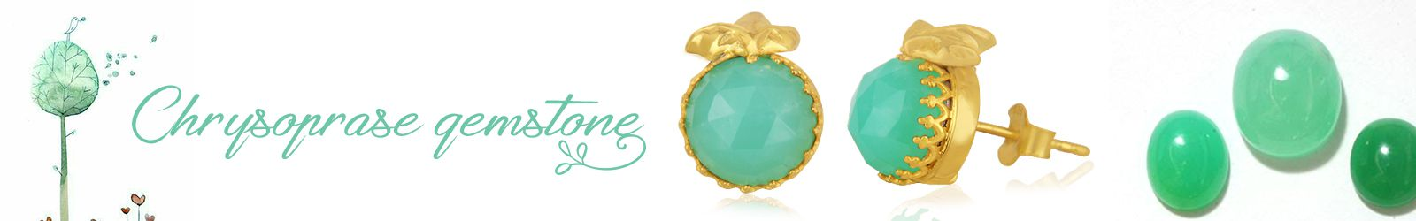 Online Natural Chrysoprase Silver Jewelry Store, Shop in Jaipur