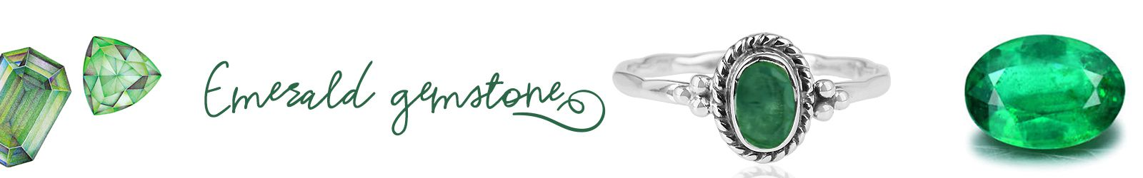 Wholesale Natural Emerald Gemstone Jewelry Manufacturer in Jaipur