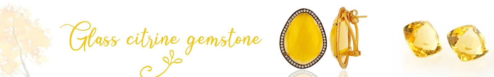 Citrine Glass Gemstone Jewelry Manufacturer, Supplier in Jaipur