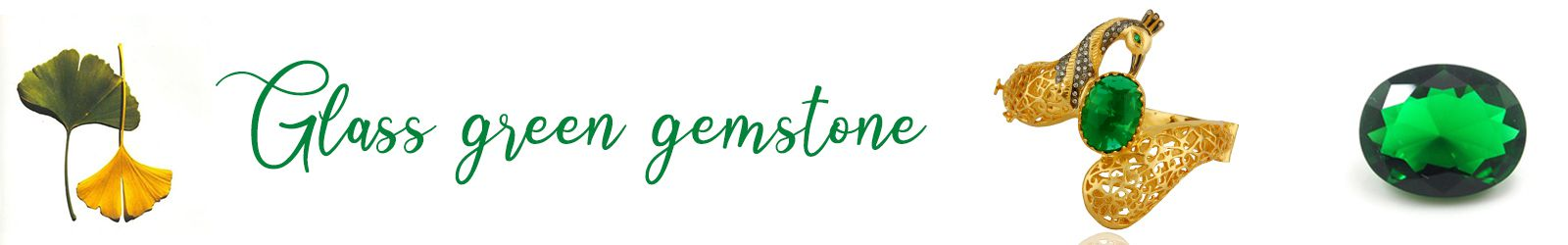 Online Green Glass Gemstone Jewelry Store, Shop in Jaipur