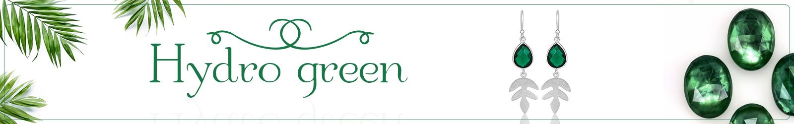 Online Hydro Green Gemstone Silver Jewelry Supplier in Jaipur