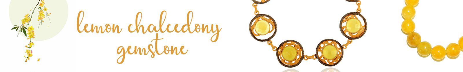 Online Lemon Chalcedony Gemstone Silver Jewelry Manufacturer in Jaipur