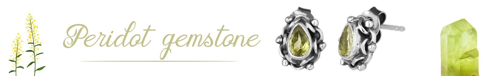 Natural Peridot Gemstone Silver Jewelry Manufacturer in Jaipur