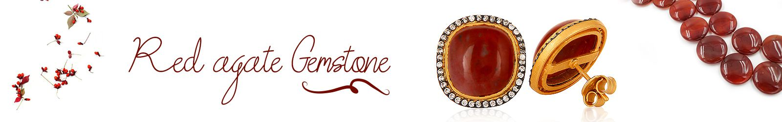 Wholesale Red Agate Gemstone Silver Jewelry Manufacturer in Jaipur