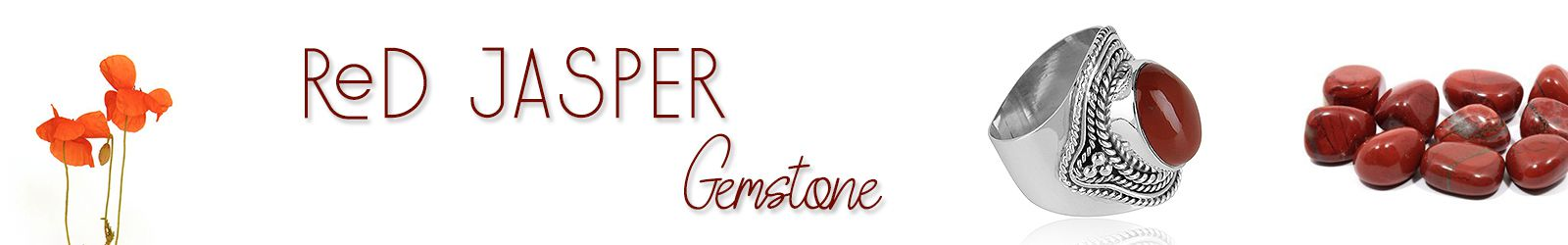 Online Red Jasper Gemstone Silver Jewelry Supplier in Jaipur