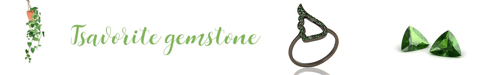 Online Natural Tsavorite Gemstone Silver Jewelry Store in Jaipurq
