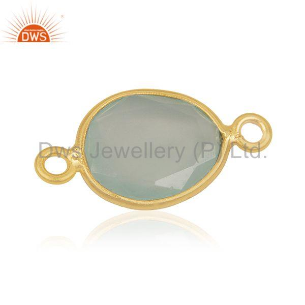 Genuine Gemstone 925 Silver Gold Plated Connector Jewelry Findings Manufacturer