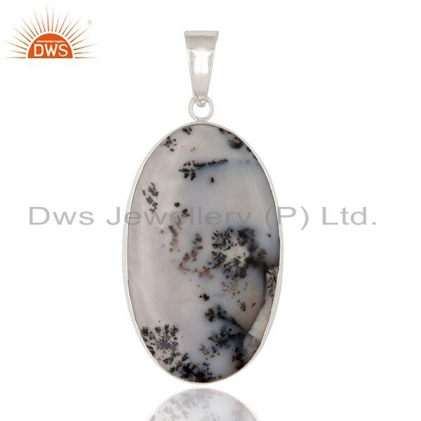 Natural Dendritic Opal Gemstone 100% Genuine 925 Sterling Silver Pendant