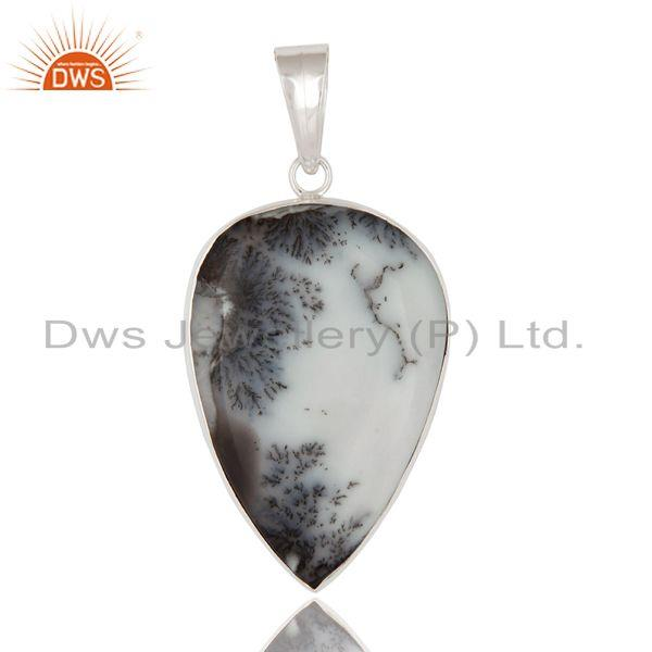 Solid 925 Sterling Silver Natural Dendritic Opal Gemstone Handmade Pendant