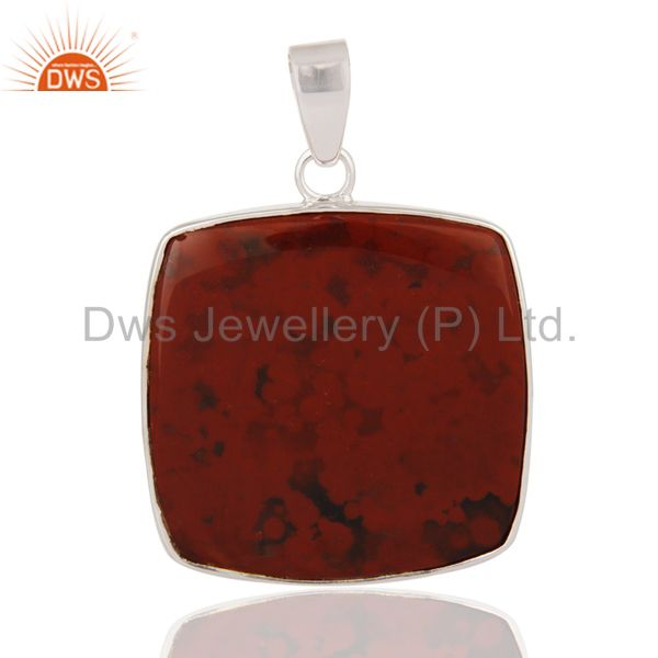 Handmade Solid 925 Sterling Silver Pendant With Natural Bloodstone Jewelry