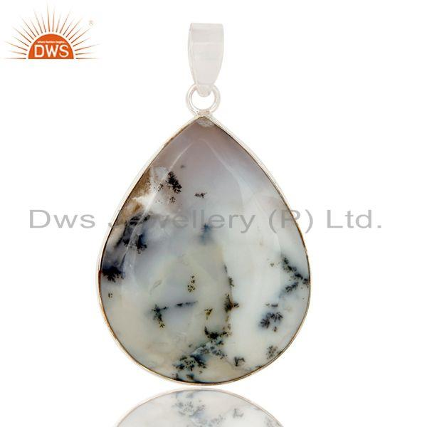 Dendritic Opal Solid Sterling Silver Gemstone Pendant Dendrite Opal Pendant