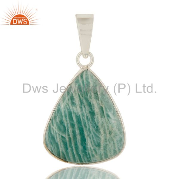 925 Sterling Silver Amazonite Gemstone Sterling Silver Pendant
