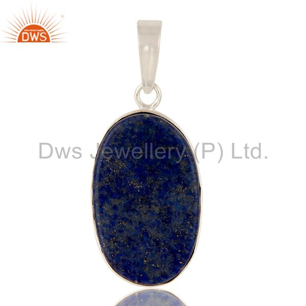 Handmade Solid Sterling Silver Lapis Lazuli Gemstone Pendant Jewelry