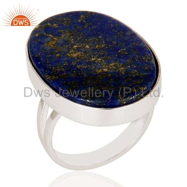 Handmade Sterling Silver Lapis Lazuli Gemstone Statement Ring Jewelry