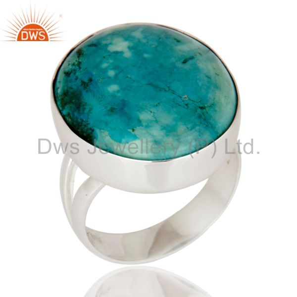 Natural Turquoise Gemstone 925 Sterling Silver Handmade Ring