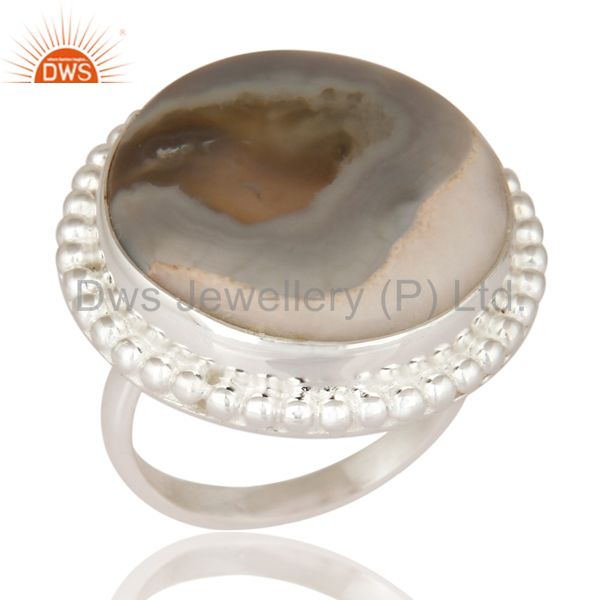 Natural Solar Quartz Gemstone Solid Sterling Silver Designer Ring