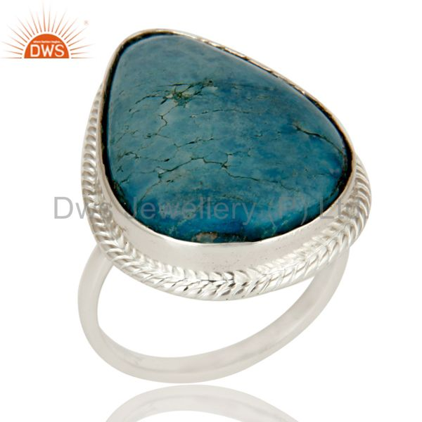 Premium Quality Handmade 925 Sterling Silver Ring Natural Turquoise Gemstone