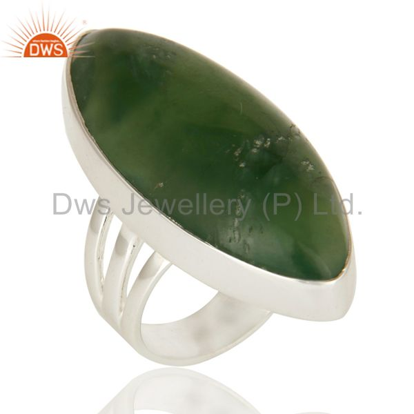Natural Vasonite Gemstone Bezel-Set Ring Made In Sterling Silver