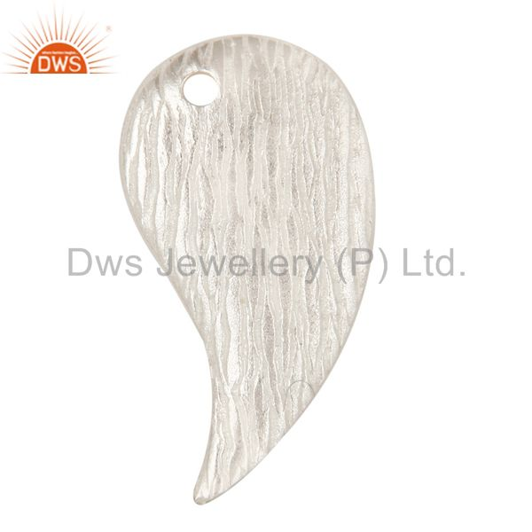 925 Sterling Silver Plated Brass Matte Finish Teardrop Finding Jewelry