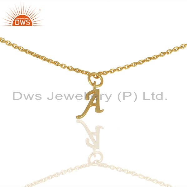 Gold Plated A Initial Simple Chain Wholesale Fashion Bracelet Jewelry