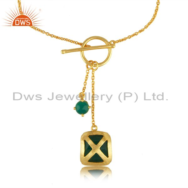 Designer Brass Fashion Yellow GOld Plated Gemstone Chain Bracelet Wholesale