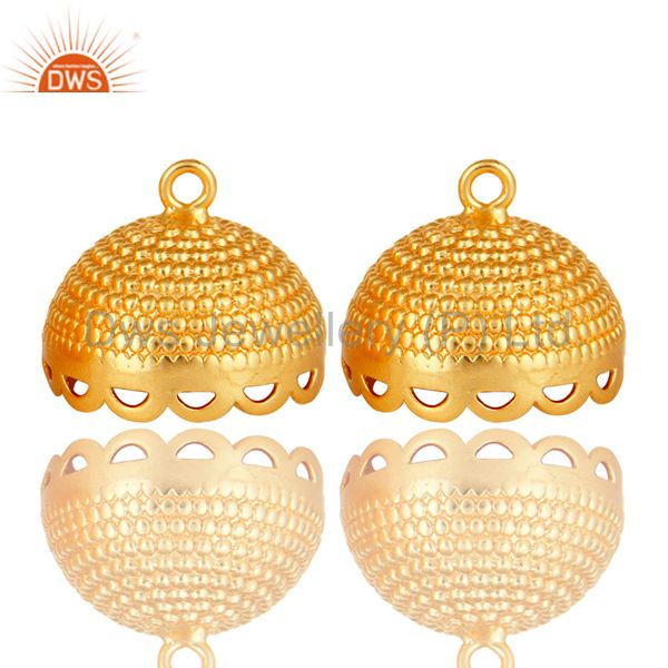 18K Yellow Gold Plated Brass Traditional Jhumka Component