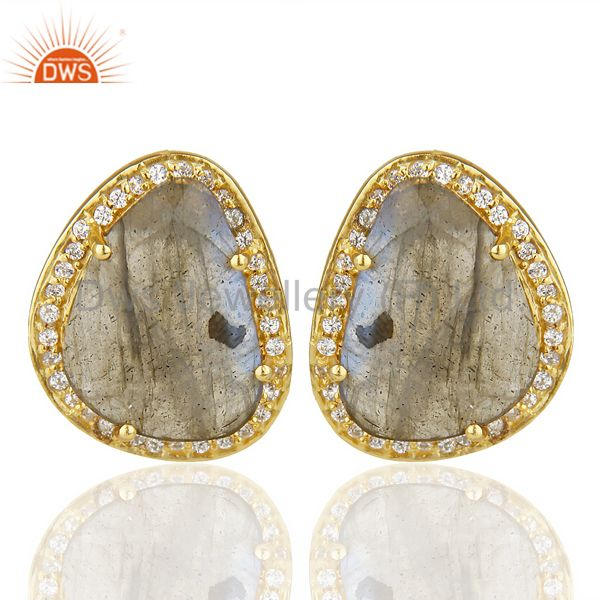 Labrodorite Fashion Large Stud Earring Stunning Stud Exclusive Fashion Earring