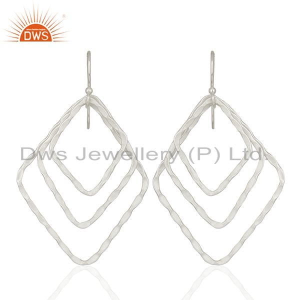 Handmade Silver Plated Designer Brass Earrings Jewelry Supplier