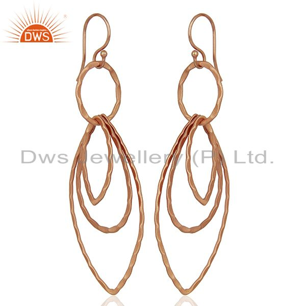 Rose Gold Plated Designer Fashion Earrings Jewelry wholesale Supplier