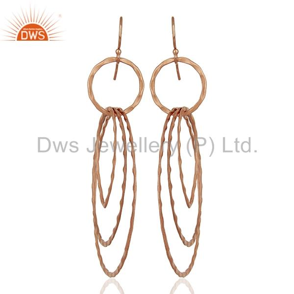 Rose Gold Plated Brass Fashion Earrings Jewelry Manufacturer Supplier