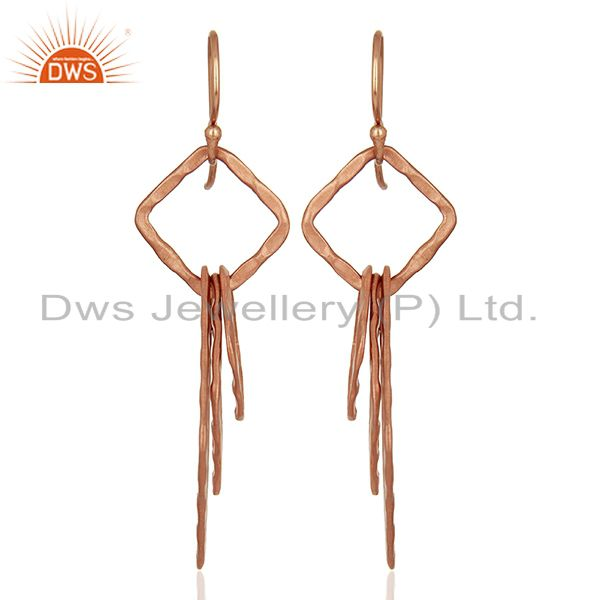 Handmade Rose Gold Plated Fashion Girls Earrings Supplier Jewelry
