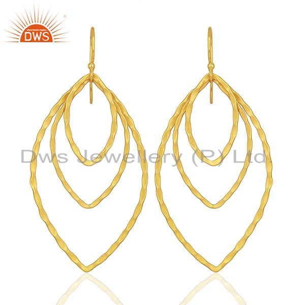 Handmade Design Gold Plated Fashion Earrings Jewelry Supplier