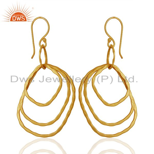 Designer Gold Plated Womens Fashion Earrings Jewelry Wholesale