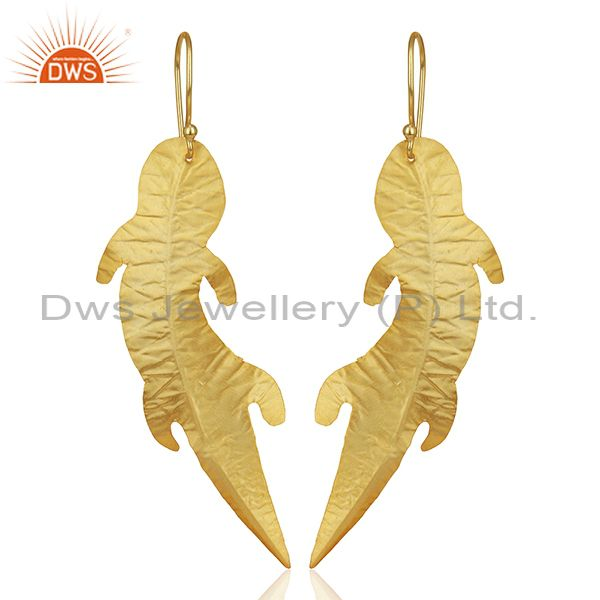 Customized Gold Plated Brass Fashion Dangle Earrings Manufacturer