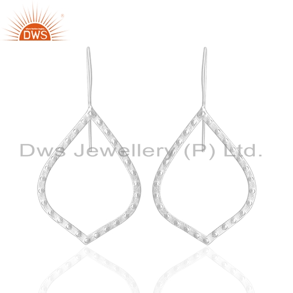 Silver Plated Brass Handmade Fashion Dangle Earrings Wholesale
