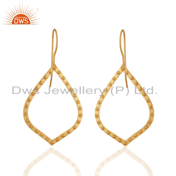 Indian Handcrafted Brass Gold Plated Fashion Earrings Manufacturer