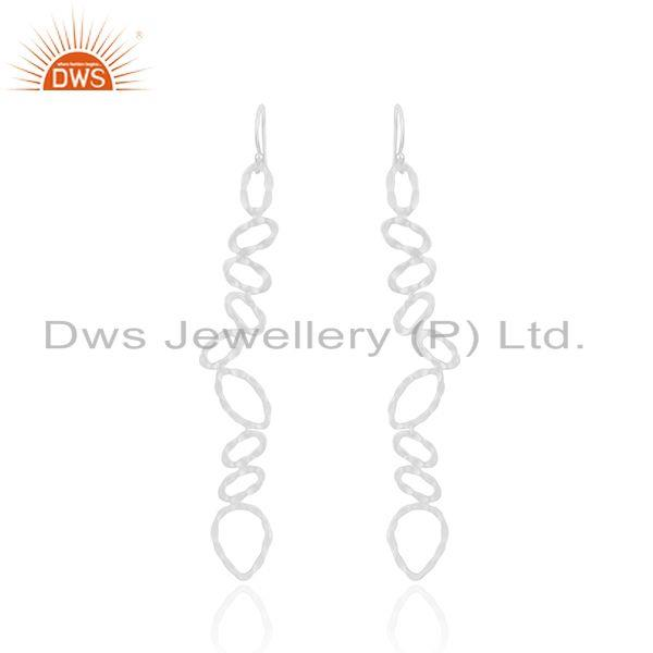 Silver Plated Designer Brass Fashion Earrings For Girls Jewelry